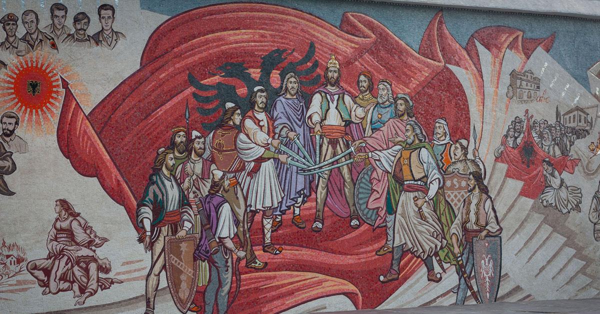 Skopje: Albansk mosaik præger nu Skanderbeg-pladsen